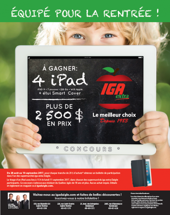 IGA_Extra_Daigle_Affiche_Concours_iPad_Rentree2017